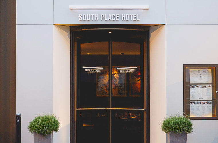 South Place Hotel London - Front Entrance